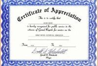 001 Certificate Of Appreciation Template Free Download Word intended for Free Certificate Of Appreciation Template Downloads
