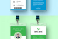 001 Employee Id Card Template Ai Free Download Ideas Blue with Id Card Template Ai