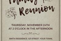 001 Family Reunion Invitation Templates Free Template with regard to Reunion Invitation Card Templates