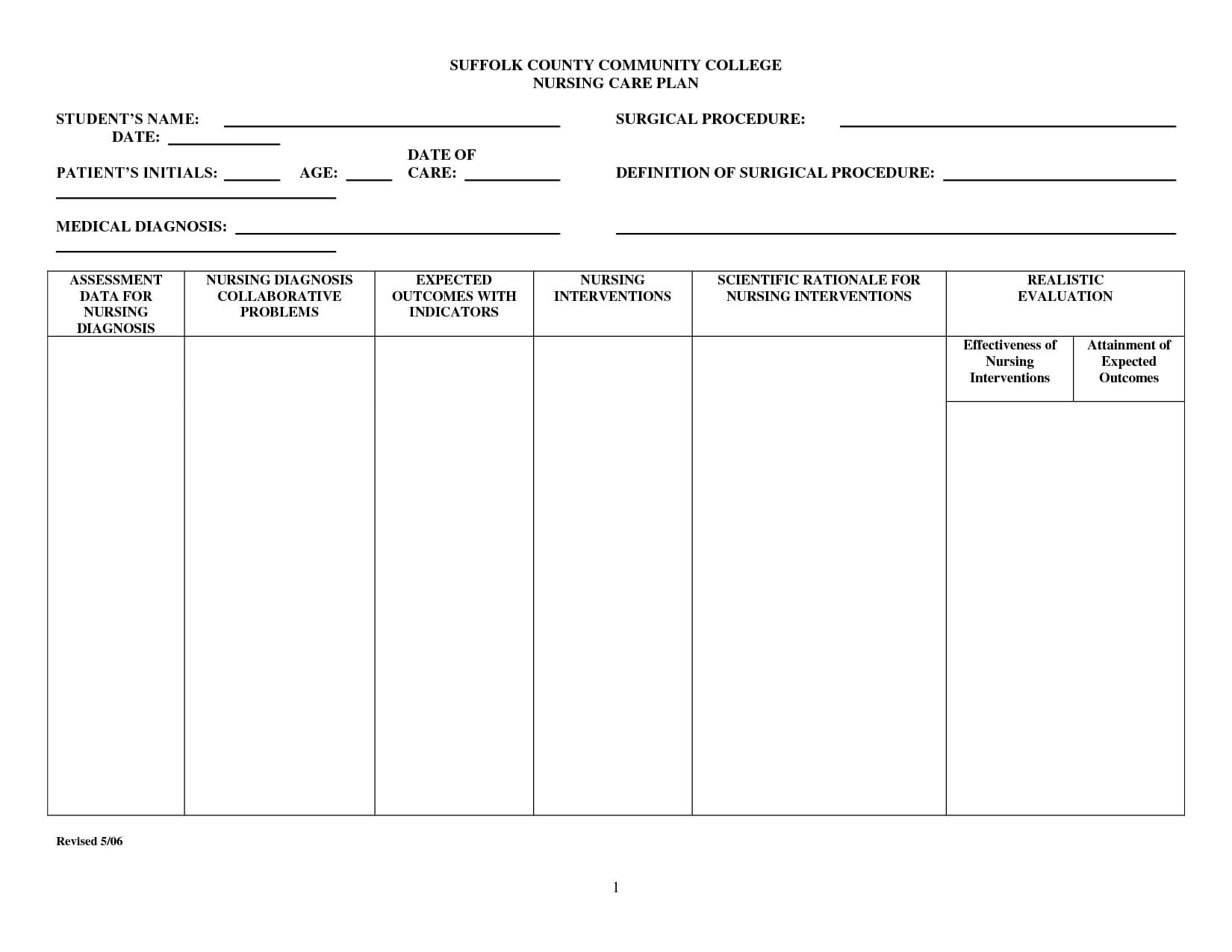 001 Free Printable Nursing Care Plan Template Astounding Regarding Nursing Care Plan Templates Blank