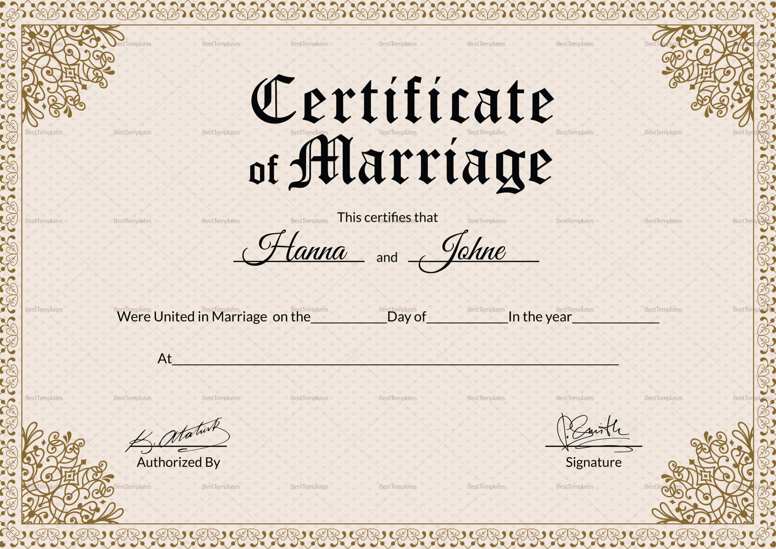 001 Keepsake Marriage Certificate28129 Template Ideas Regarding Certificate Of Marriage Template