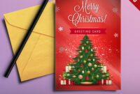 001 Merry Christmas Greeting Card Free Psd Main Template pertaining to Christmas Photo Card Templates Photoshop