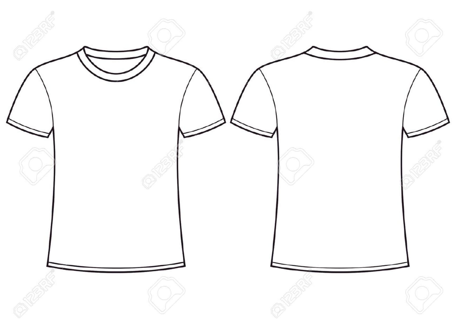 001 Plain T Shirt Template Ideas Blank Shirts Vector Throughout Printable Blank Tshirt Template
