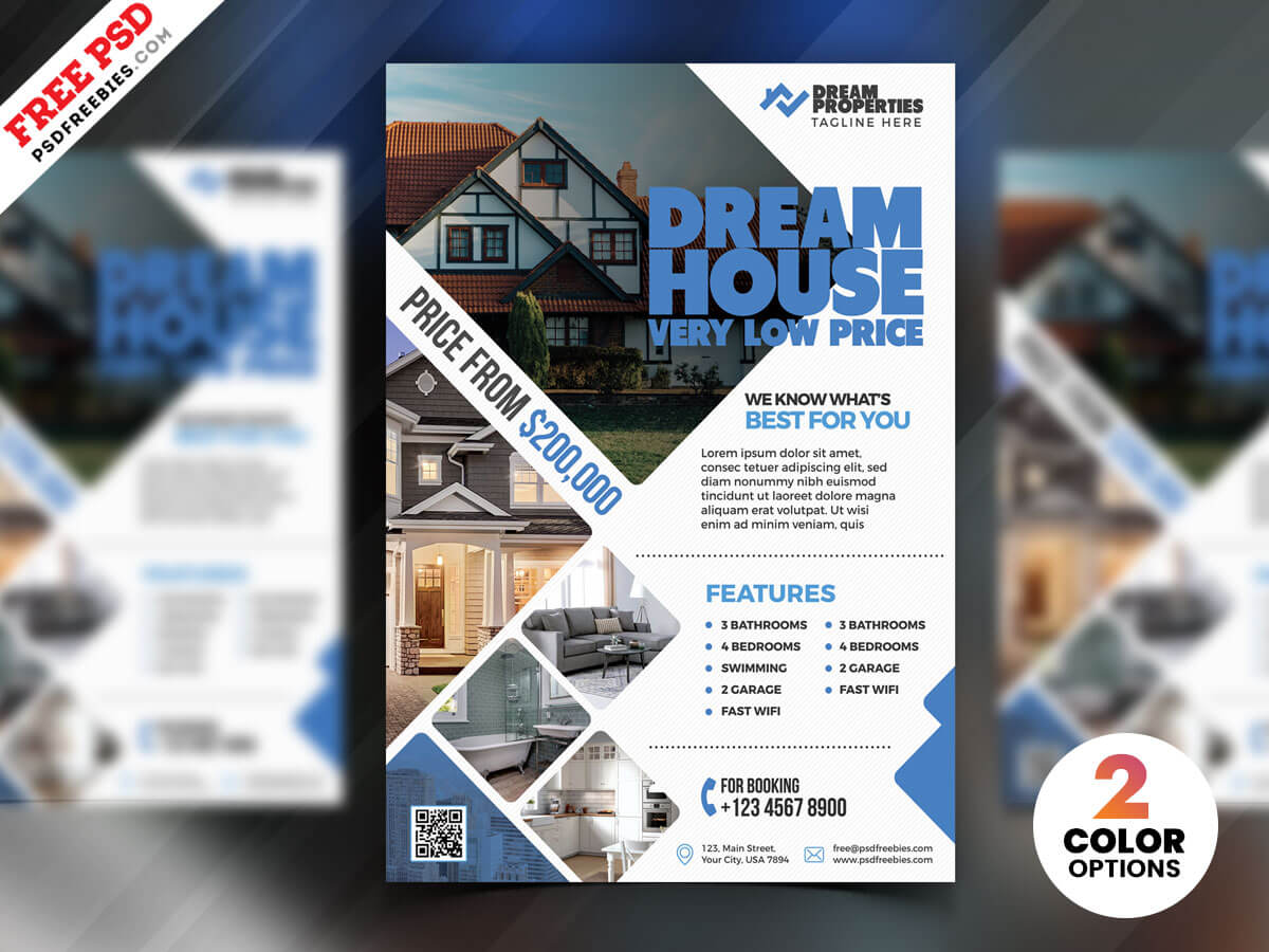 001 Real Estate Flyer Design Psd Template Ideas Templates In Real Estate Brochure Templates Psd Free Download