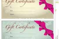 001 Salon Gift Certificate Templates Free Printable Hair inside Salon Gift Certificate Template