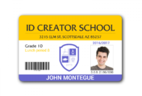 001 Student Id Card Template Sensational Ideas Psd Free pertaining to College Id Card Template Psd