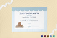 001 Template Ideas Baby Dedication Certificate Mock throughout Mock Certificate Template