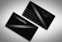 001 Template Ideas Business Cards Free Templates Impressive inside Black And White Business Cards Templates Free