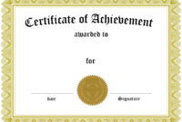 001 Template Ideas Certificate Of Achievement Phenomenal in Free Printable Certificate Of Achievement Template