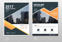 001 Template Ideas Orange Black Triangle Vector Annual with regard to Annual Report Template Word Free Download