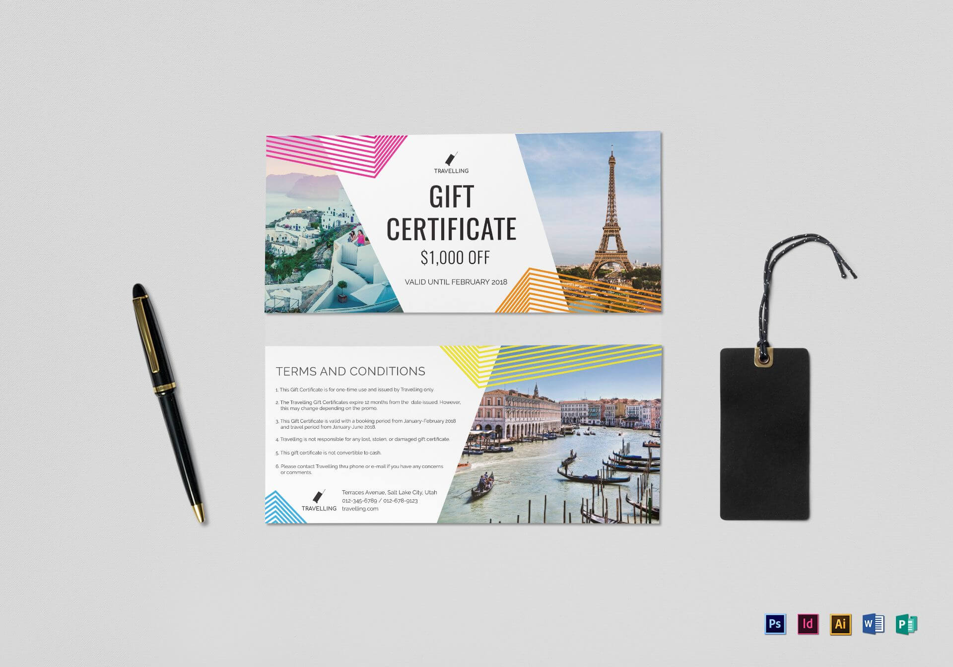 001 Travel Gift Certificate Mock Up Template Stirring Ideas In Free Travel Gift Certificate Template