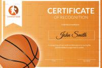 002 Basketball Award Certificate28129 Certificate Template with Basketball Certificate Template
