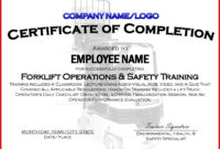 002 Forklift Truck Training Certificate Template Free Osha with regard to Safe Driving Certificate Template