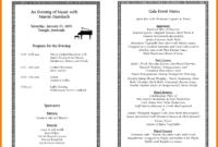 002 Printable Event Program Template Ideas Phenomenal Free inside Free Event Program Templates Word