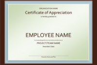 002 Template Ideas Certificate Employee Templatelab Com Of for Employee Anniversary Certificate Template