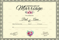 002 Template Ideas Certificate Of Marriage Beautiful with Certificate Of Marriage Template