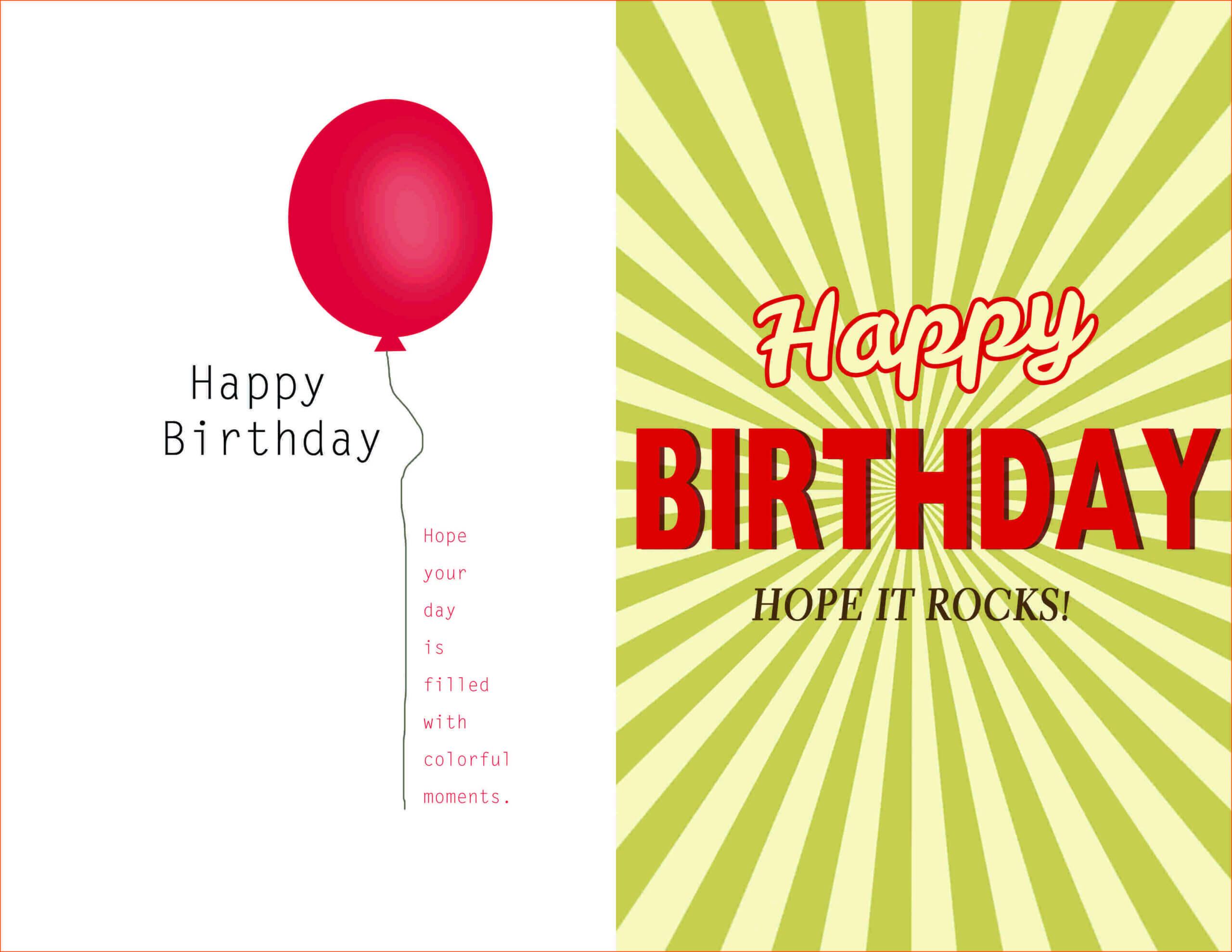 002 Template Ideas Creative Birthday Invitation Quarter Fold Regarding Birthday Card Template Microsoft Word