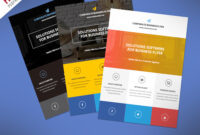 002 Template Ideas Flat Clean Corporate Business Flyer Free regarding Cleaning Brochure Templates Free