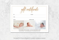 002 Template Ideas Photography Gift Voucher within Photoshoot Gift Certificate Template