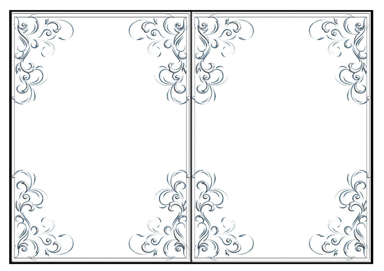 002 Template Ideas Quarter Fold Card Free Imnettle Printable Regarding Quarter Fold Card Template