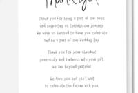 002 Wedding Thank You Card Wording Ideas Template Note pertaining to Template For Wedding Thank You Cards