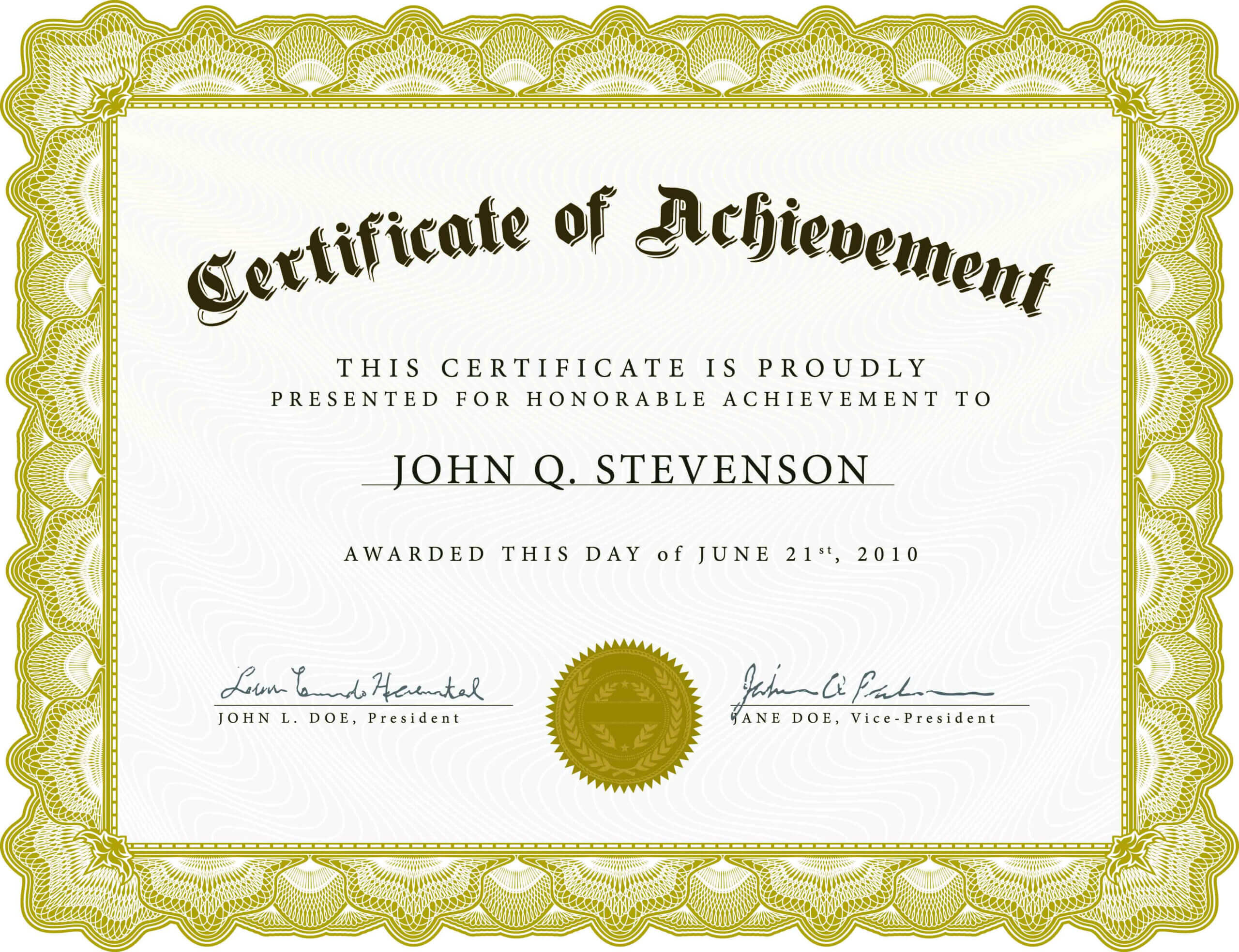 002 Word Certificate Of Achievement Template Outstanding Regarding Army Certificate Of Achievement Template