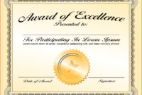 003 Award Certificate Template Word Free Download Ideas Of with regard to Professional Award Certificate Template