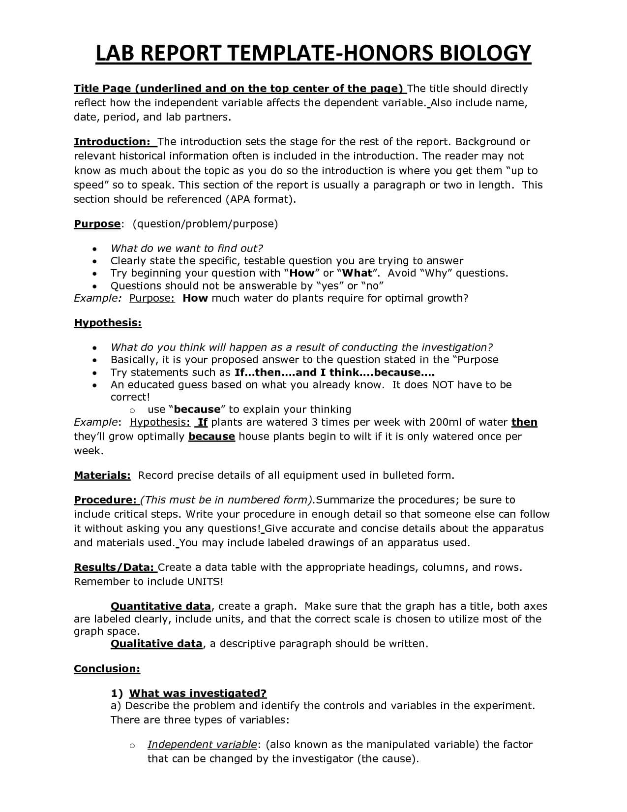 003 Biology Lab Report Template Awesome Ideas Example High With Lab Report Template Word