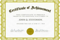 003 Certificate Of Achievement Template Free Ideas with Free Certificate Of Excellence Template