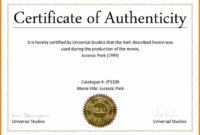 003 Certificate Of Authenticity Autograph Template Freel intended for Certificate Of Authenticity Template