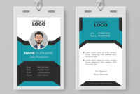003 Creative Employee Id Card Template Vector Badge Best pertaining to Id Card Template Word Free
