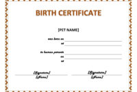 003 Official Birth Certificate Template Charming Designs throughout Official Birth Certificate Template