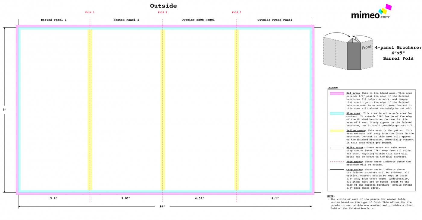 003 Quad Fold Brochure Template Ideas Best Images Of Dreaded In Quad Fold Brochure Template