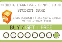 003 School Carnival Punch Card Template Ideas Shocking Word intended for Chance Card Template