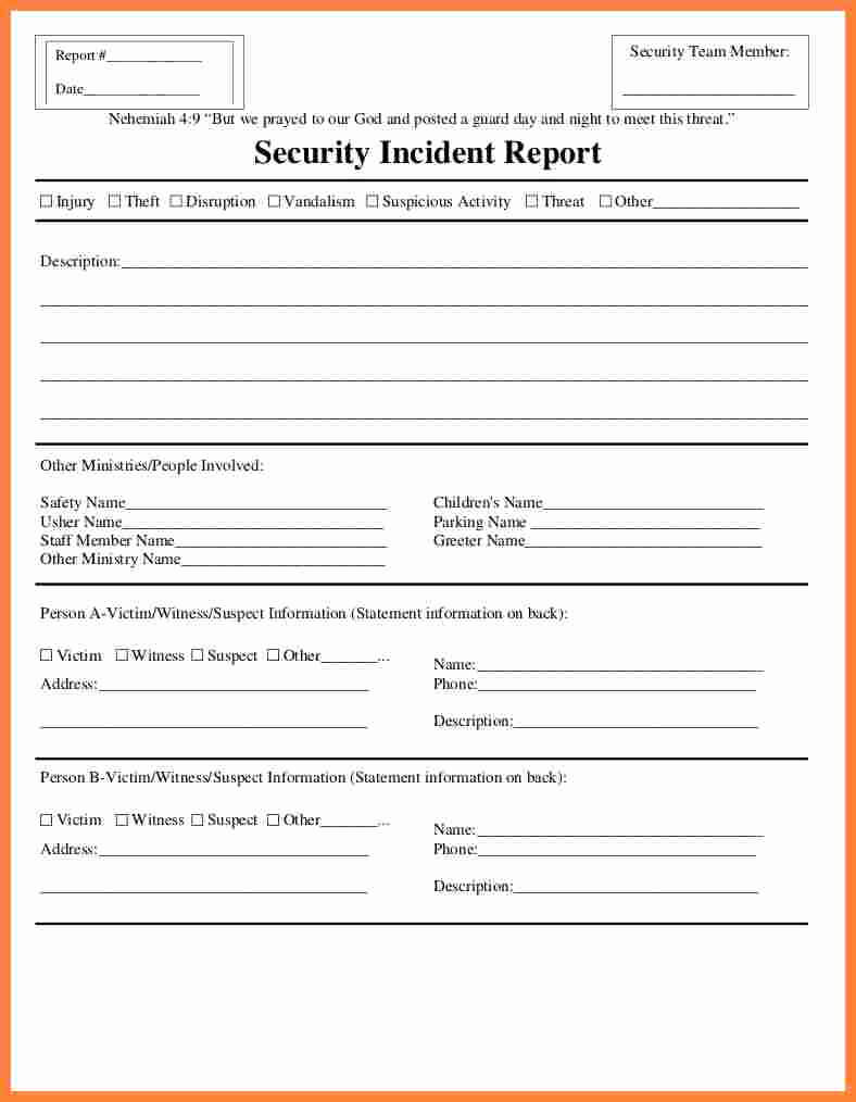003 Security Incident Report Form Template Word Ideas 20Fire Pertaining To Incident Report Form Template Word