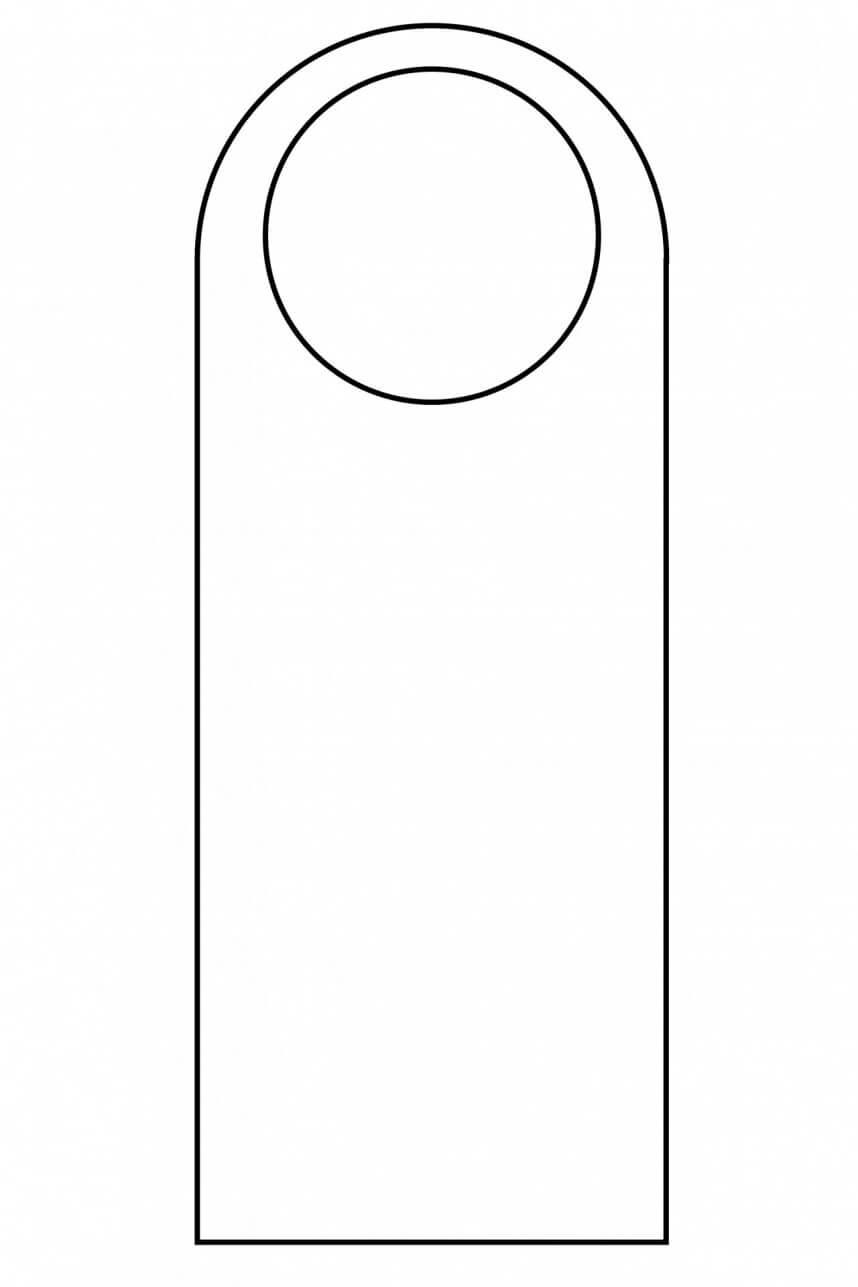 003 Template Ideas Blank Door Hanger Outline 1384973299Xwz Inside Blanks Usa Templates