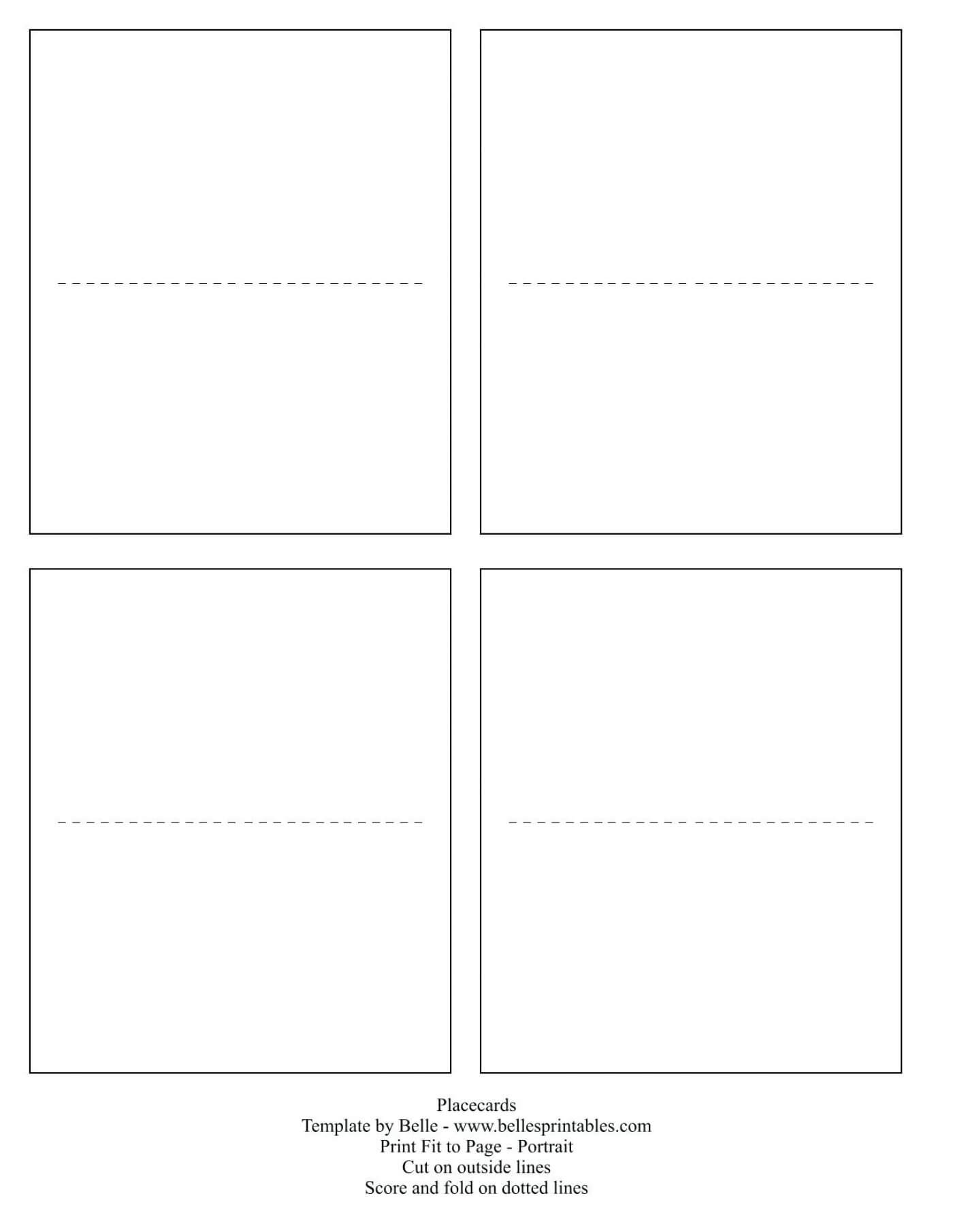 003 Template Ideas For Place Cards Melanie Placecards Inside Place Card Template Free 6 Per Page