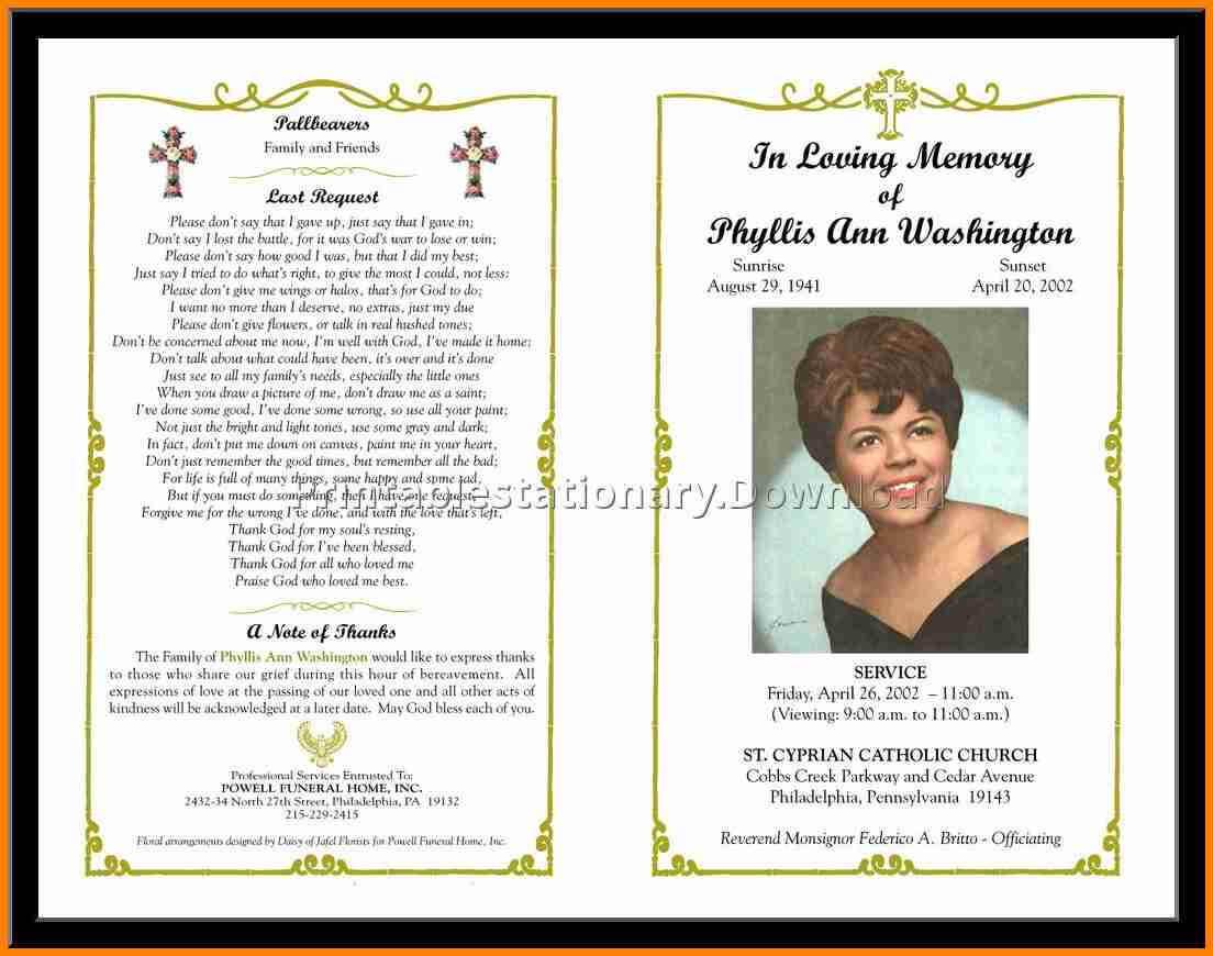 003 Template Ideas Funeral Program Templates Free Programs Pertaining To Memorial Brochure Template