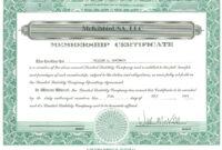 003 Template Ideas Llc Member Certificate Marvelous throughout Llc Membership Certificate Template