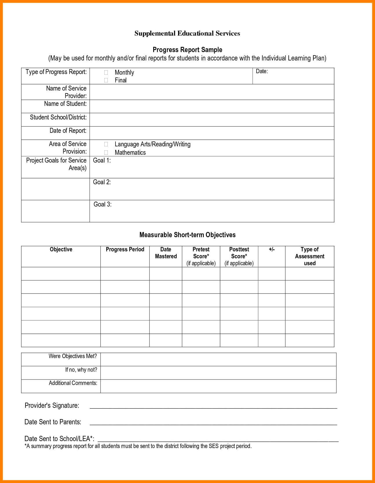 003 Template Ideas Student Progress Beautiful Report Card For High School Progress Report Template