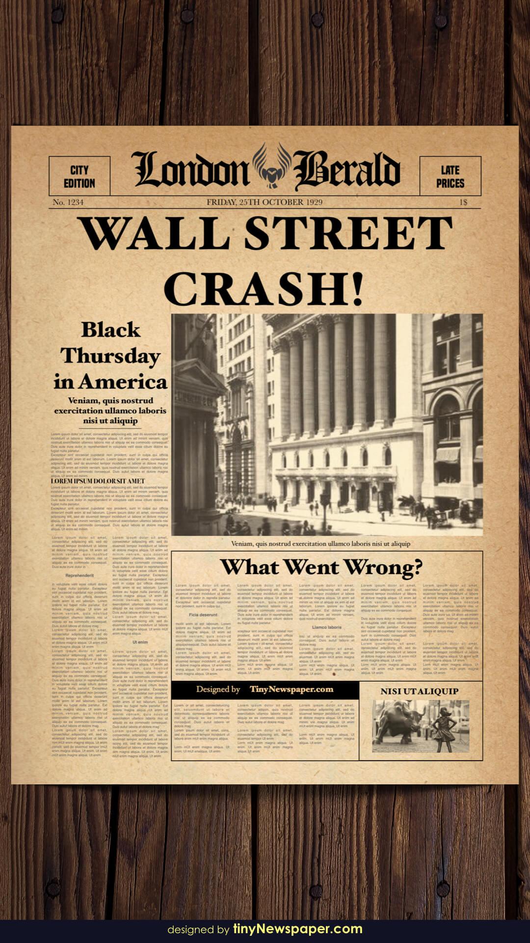 003 Vintage Newspaper Template Word Old Microsoft For Old Newspaper Template Word Free