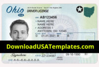 004 Blank Id Card Template Psd Ideas Photoshop Ohio Driving inside Blank Drivers License Template