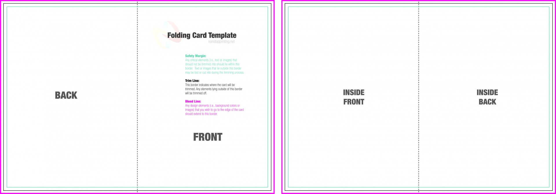 004 Blank Quarter Fold Card Template Free Ideas Greeting With Regard To Fold Out Card Template
