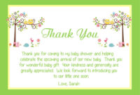 004 Bridal Shower Thank You Note Example Template within Template For Baby Shower Thank You Cards