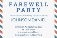 004 Farewell Party Invitation Invitations Templates Template pertaining to Bon Voyage Card Template