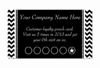 004 Free Printable Chore Punch Card Template Business And In Free Printable Punch Card Template