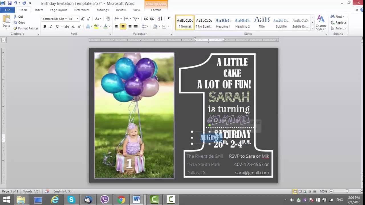 004 Maxresdefault Microsoft Word Birthday Card Invitation Intended For Birthday Card Template Microsoft Word