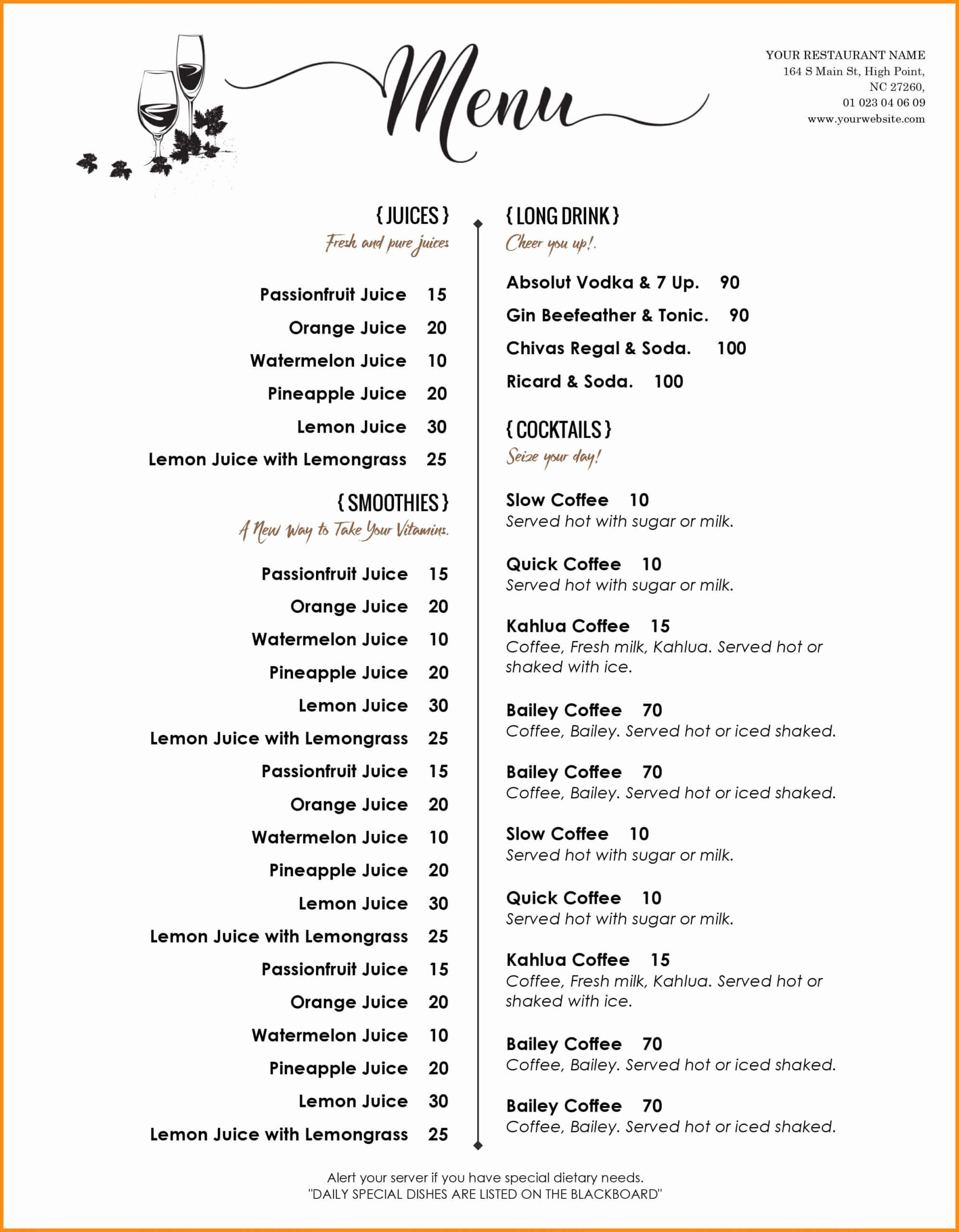 004 Menu Template Free Word Imposing Ideas Restaurant Within Free Cafe Menu Templates For Word