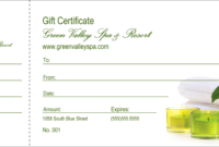 004 Spa Gift Certificate Redesigned Product Front Template with Spa Day Gift Certificate Template