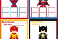 004 Superhero Birthday Invitations Templates Free Super Hero throughout Superhero Birthday Card Template